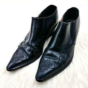 Harley Davidson Cowboy Style Leather Booties